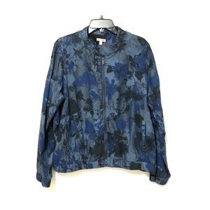 Juicy Couture Blue Floral Bomber Jacket (XL)